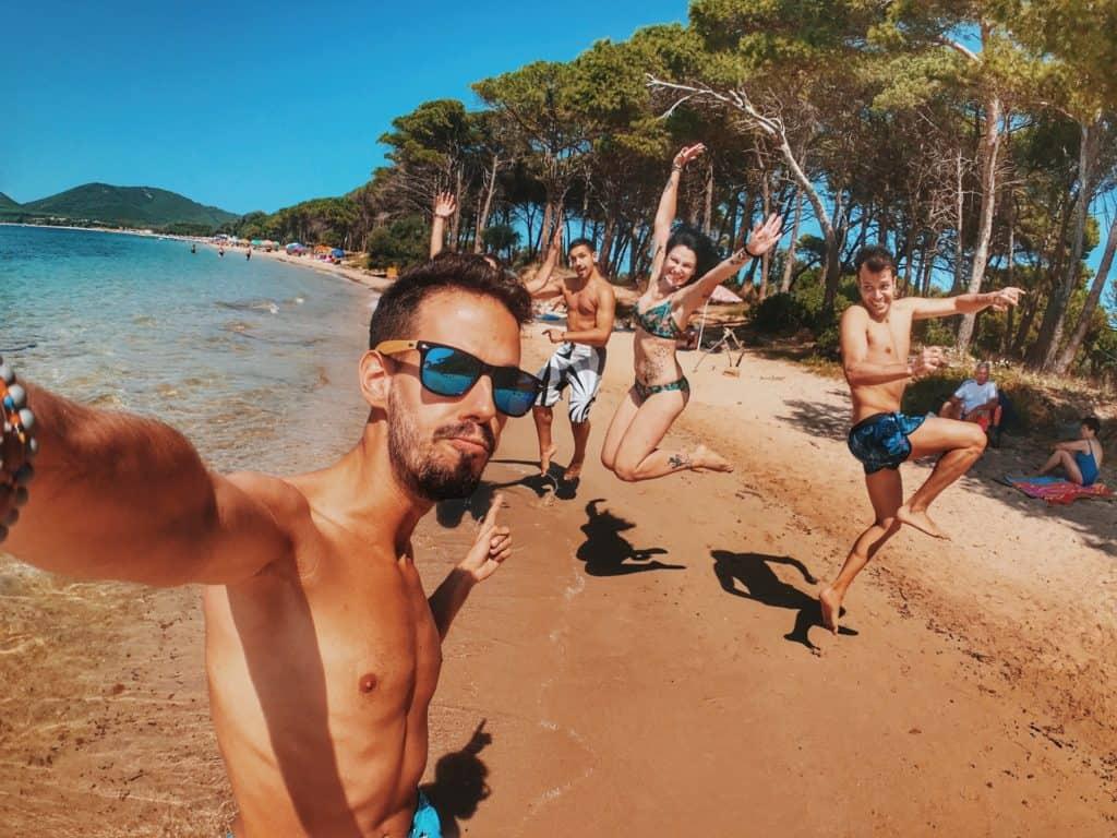 college beach trip