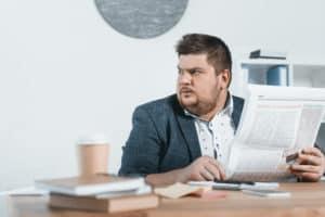 accountant manager businessman newspaper