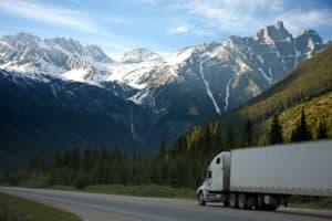 logistics lorry mountains 93398